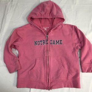 Other - Notre dame hoodie girls size 4 t zip up sweatshirt
